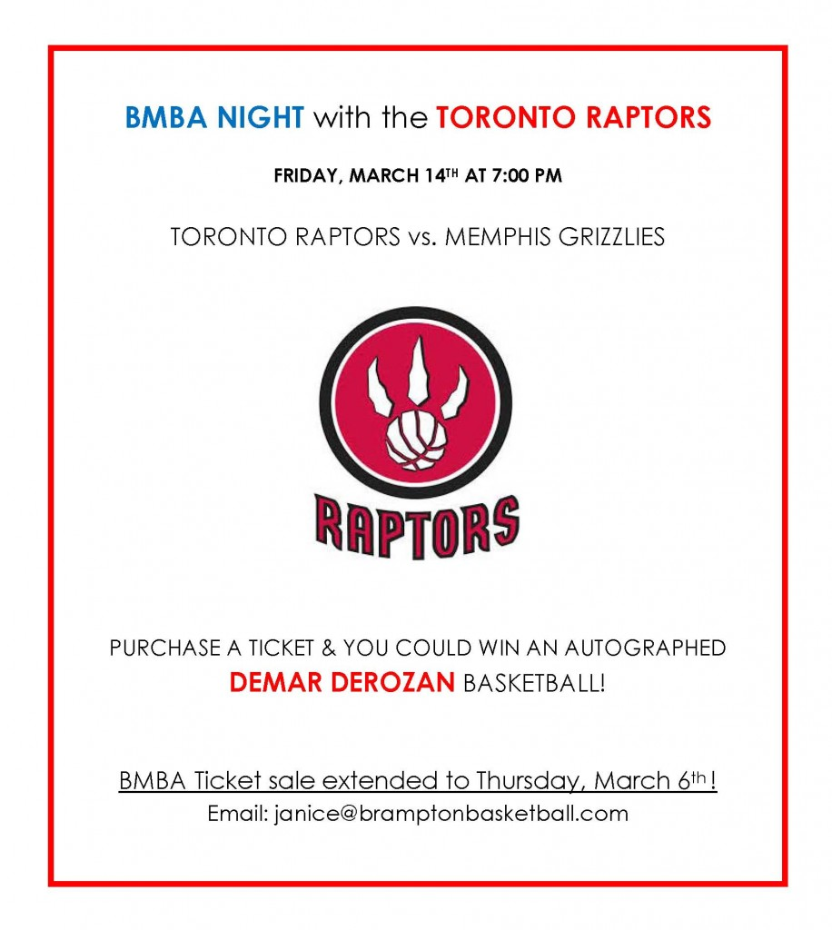 2013-14 BMBA - Raptors BMBA Night Extension