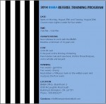 2014 BMBA REFEREE TRAINING PROGRAM