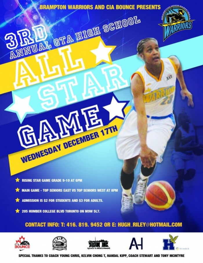 3RD ANNUAL GTA ALL STAR GAME – EAST vs. WEST – December 17, …