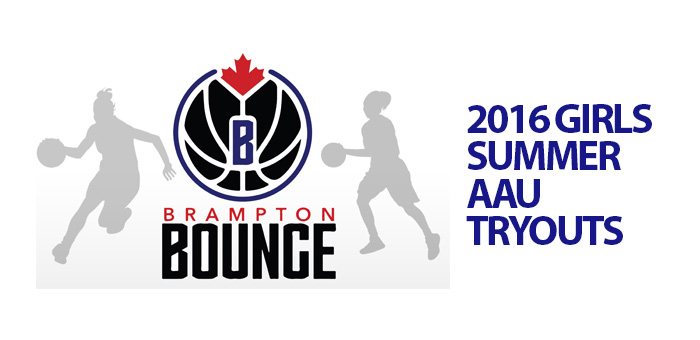 Bounce 2016 Girls Summer AAU Tryouts