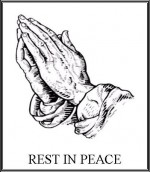 Praying Hands Etching w Blk Border