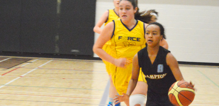 Lady Warriors in OBL Action – Attacking the Basket